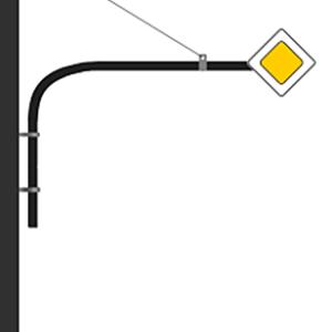 кронштейн для дорожных знаков